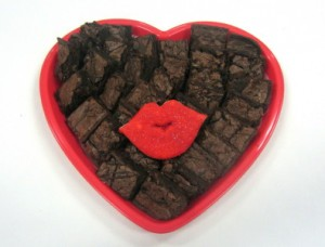 Heart Tray of Brownies